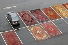 towerofsleep: thejogging: Occupy Parking Lots (with Persian Rugs), 2012 Installation View, Dimensions Variable ⧗ Joshua Citarella might be my favourite Jogger. Graffiti Kunst, Modern Art, Contemporary Art, Instalation Art, Urban Intervention, Francis Picabia, Wow Art, Art Moderne, Guerrilla