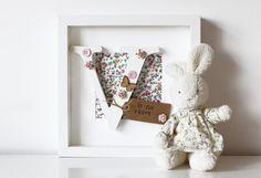 Girls Personalised Name Frame- Nursery Frame- Baby Girl- Wooden Letter- Floral- Butterfly- New Baby Gift- Girls Room Decor- Christening Wooden Initials, Wooden Letters, Nursery Frames, Nursery Decor, Baby Girl Gifts, New Baby Gifts, Wooden Memory Box, Family Tree Frame, Dorm Rooms
