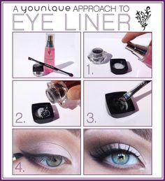 You can get the eyeliner you've always wanted in beautiful color options using younique's pigment minerals. Use our awesome brush, and try it out! #eyeliner #mineralmakeup #younique