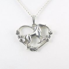 Sterling Silver Horse Pendant fr Donna by DonnaPizarroDesigns