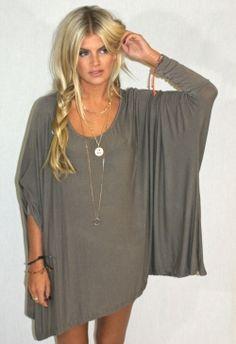 t-shirt dress- gray