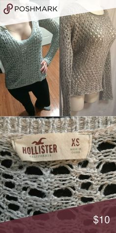 752415a7fd1 Grey Hollister Sweater Pull over light grey sweater