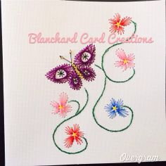 Beaded Butterfly Note Card