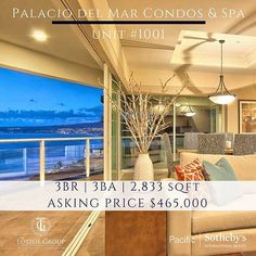 Palacio del Mar, a premier oceanfront community, offering Luxury and specious condominiums and villas with unobstructed ocean views. Conveniently located on the Bay of El Descanso in Playas de Rosarito, Baja California, Mexico, Palacio del Mar is only 45 minutes south of the border from San Diego. Call 619-994-7653 for more info! #ranchosantafelocals #sandiegoconnection #sdlocals #rsflocals - posted by Lotzof Group-Pacific Sotheby's  https://www.instagram.com/thelotzofgroup. See more post on…
