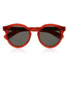 Ruby red Illesteva frames #sunglasses