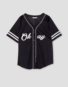Short sleeve baseball jacket - Pull and Bear - Fashion Teenage Sporty Outfits, Cute Summer Outfits, Teen Fashion Outfits, Outfits For Teens, Trendy Outfits, Girl Outfits, Cute Outfits, Aesthetic Fashion, Aesthetic Clothes