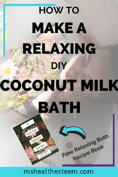 Soak in the tub while this awesome Coconut Milk Bath helps to soothe, moisturize and soften your skin. It's super simple to make. Relaxing Bath Recipes, Self Care Activities, Milk Bath, Diy Spa, Ways To Relax, Healthy Beauty, Beauty Recipe, How To Better Yourself, Dairy Free