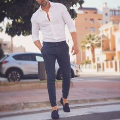 likes, 26 comments – Modern Men Casual Style ( … - How To Fashion Formal Men Outfit, Men Formal, Mens Fashion Suits, Fashion Outfits, Fashion Trends, Style Fashion, Stylish Men, Men Casual, Casual Shirt