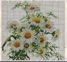 Вышивка крестиком. Подушки с цветами.