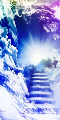 Stairway to heaven (by Hariette H.) I saw one when I was 9 Stairs To Heaven, Path To Heaven, Heaven Tattoos, Heaven Art, Jesus Pictures, Heaven Pictures, Heaven's Gate, Cloud Art, Art Prints Online
