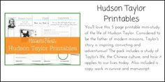 Hudson Taylor Printables