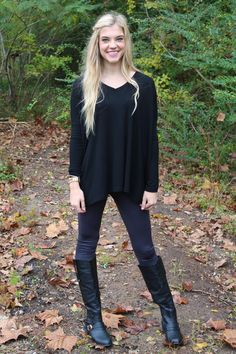 Perfect little v-neck for any and every day. http://www.sidelinesass.com/collections/piko-collection/products/piko-v-neck-black