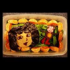 Mondays are for exploring!  The week 4 lunch, Dora and Boots, for my daughter is up on www.lunchboxdad.com. #bento #kidslunches #doraandboots #doratheexplorer