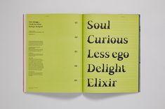 Reeking of flouro inks and heavy with luxurious Fedrigoni paper, TypeNotes issue one arrived last year to a blaze of industry acclaim and promptly sold . Font Software, Typography, Lettering, Letterpress, Paper, Creative, Blog, Porn, Magazine