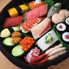 sushi toy felt