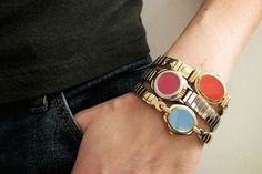 Big Tinsel color-blocked watches, about $27