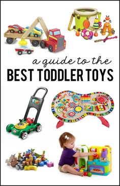 What are the best types of Toys for Toddlers?  Find out with this Guide to the BEST TODDLER TOYS! #toys #giftideas