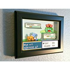 customizable pokemon fire redleaf green battle scene shadow box 45 liked