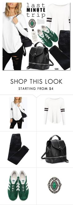 """Last Minute Trip"" by mada-malureanu ❤ liked on Polyvore featuring Pierre Balmain, adidas Originals, philosophy, lastminutetrip, yoins, yoinscollection and loveyoins"