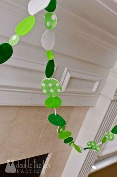 Banner at a St. Patrick's Day Party #stpatricksday #partybanner