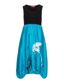 Igor Dobranic Two tone floral print dress in Blue / Black