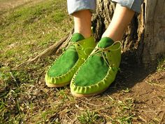 March leather moccasin Spring - summer 2013 lawngreengreen £99.00