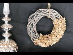 Kranz basteln aus Pistazienschalen – Wohndeko – upcycling - YouTube Creative Crafts, Christmas Decorations, Room Decorations, Diy, Youtube, Ideas, Manualidades, Bricolage, Crown Cake