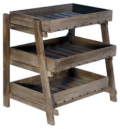 Wooden Display Crate Stand | The Organized Home | One Kings Lane