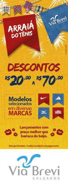 Campanha promocional desenvolvida pela Agência Conceito para as lojas Via Brevi Calçados.