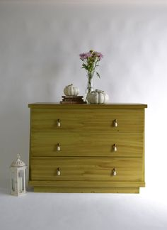How Amazing Is This Green Vintage Harmony House Sears Furniture Dresser?  This Vintage Piece Has