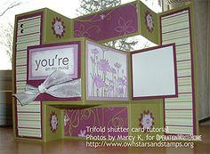 Trifold Shutter Card Tutorial - Wonderful fold & even more wonderful DSP :-)