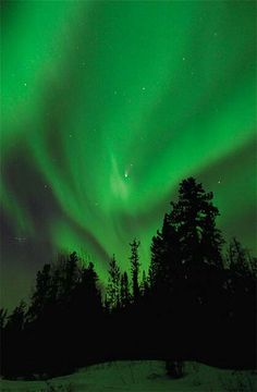 WHAT ARE NORTHERN LIGHTS? The bright dancing lights of the aurora are actually collisions between electrically charged particles from the sun that enter the earth's atmosphere.