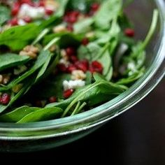 Spinach Pomegranate Salad - Allrecipes.com