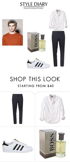 #Men by dianacrystal on Polyvore featuring Banana Republic, Burberry, adidas, HUGO, men's fashion and menswear