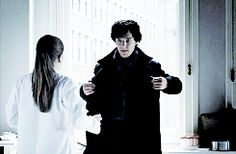 Gif... OMG SHERLOCK!!!!!!!!!!!!!!!! And now we all know why it took so long for Series 3. I'd mess up this scene for two years too if I could kiss him. lol