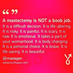 A #mastectomy is NOT a boob job... #BRCA #hereditarycancer #Knowledgeispower Always ❤️ #breastcancer #menhavebreaststoo #BCSM