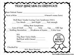 Bear Health award for Doctor Dress Ups via- Nuttin But Preschool