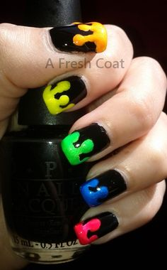 Neon Drip Queen Nails, Red Queen, Neon, Fresh, Coat, Neon Tetra, Sewing Coat, Coats