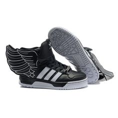 free shipping 4716a 46e40 JS Womens adidas Originals Jeremy Scott Wings 2.0 Shoes - Black White