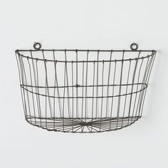 Half Moon Wire Wall Basket | Wall Basket, Half Moons And Wire