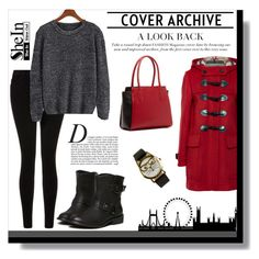 SheIn (contest) by pamra1 on Polyvore featuring polyvore fashion style Burberry Current/Elliott SUSU JFR Anja clothing shein
