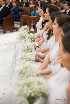 Bridesmaid bouquets babybreath