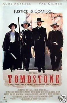 Tombstone (Original) Commercial Kurt Russel & Val Kilmer Movie Posters.  Poster measures approximately 23x35 (Inches) 58.42cm x 88.9cm (Centimeters).  Posters have been stored flat and in Excellent condition no creases, folds, tears or pin holes.   Shipping & Handling  We accept full responsibility for our posters safe arrival, however if a poster arrives damaged we do require pictures of both the poster and the damaged tube for our records. All posters measuring under 24 inches wide ...