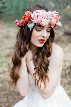 Philomene Silk Flower Halo from Mignonne Handmade