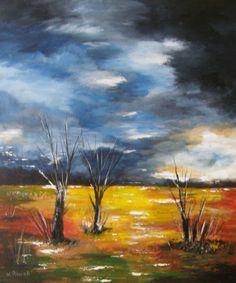 Stormy Day  Original Acrylic Landscape by halinapl on Etsy, $179.00