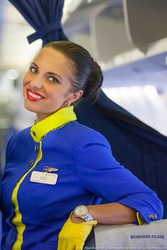 Stewardess from Ukraine International Airlines