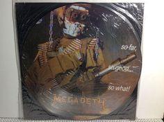 "MEGADETH So Far So Good... 12"" Vinyl Pic Disc Original 1988 Release METALLICA - http://music.goshoppins.com/records/megadeth-so-far-so-good-12-vinyl-pic-disc-original-1988-release-metallica/"
