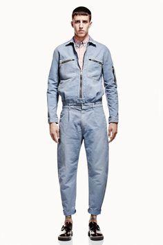 McQ by Alexander McQueen 2013 Spring/Summer Lookbook   Hypebeast Denim Button Up, Button Up Shirts, Summer Lookbook, My Man, Hypebeast, Parachute Pants, Alexander Mcqueen, Menswear, Spring Summer