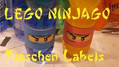 Flaschen Lable für Lego Ninjago Party bottle lable Kindergeburtstag schn...