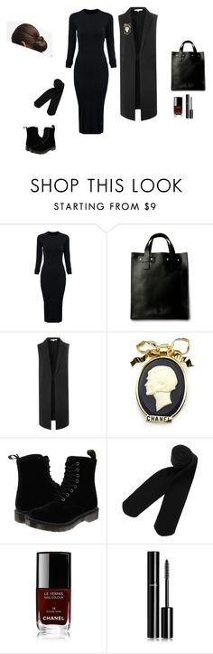 """Без названия #32"" by anastasiahunterreal on Polyvore featuring мода, WithChic, Glamorous, Chanel, Dr. Martens и Monki"
